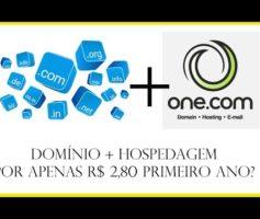 Como adquirir um domínio e hospedagem na One por R$ 2,80