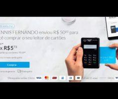 Máquina de cartões Mercado Pago- Máquina de cartão de crédito Point' H do mercado pago